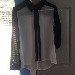 Tops - Black and white top size large